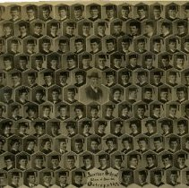 Image of 1976.173 - American School of Osteopathy graduates in caps and gowns composite photo