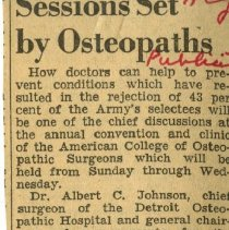 Image of 2006.70 - Sessions Set by Osteopaths