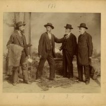 Image of 2010.02 - Andrew Taylor Still with Kansas Free Staters Thomas Still, Judge Abbott, and an unidentified man