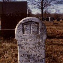 Image of 2010.02 - Head stone of Martha Poague Still and Still plot in Baldwin, Kansas
