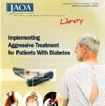 Image of 2012.97 - Journal of the American Osteopathic Association Supplement 5 Vol 111, No. 7