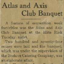 Image of 1976.149 - Atlas and Axis Club Banquet