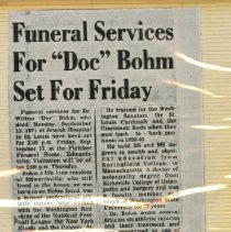 Image of 2001.36 - Funeral Services for Doc Bohm set for Friday