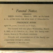 Image of 2001.36 - Funeral Announcement