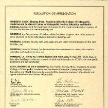 Image of KCOM Resolution of Appreciation 1994
