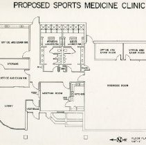 Image of KCOM proposed sports medicine clinic architectural drawing 1989