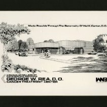 Image of George W. Rea Cancer Treatment Center architectural drawing 1988