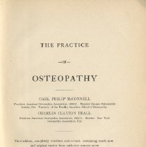 Image of The Practice of Osteopathy