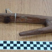 Image of 1975.107 - Wooden gun rest