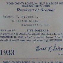 Image of 2004.267 - Wood County Lodge 1933