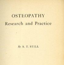 Image of Osteopathy Research & Practice title page 1910