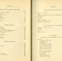 Image of Pages 2 & 3 of table of contents of Osteopathy Reserach Practice 1910