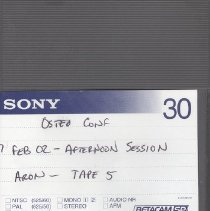 Image of 2009.65 - Osteo Conf Afternoon Session Tape 5