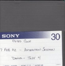 Image of 2009.65 - Osteo Conf Afternoon Session Tape 4