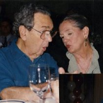 Image of 2012.101 - Photograph of Irvin Korr and Woman Talking