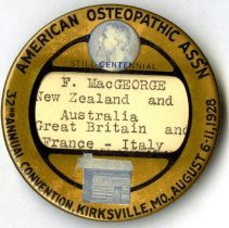 Image of 2012.95 - American Osteopathic Association Convention Pin