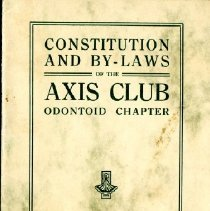 Image of 2012.95 - Constitution and By-Laws of the Axis Club Odontoid Chapter