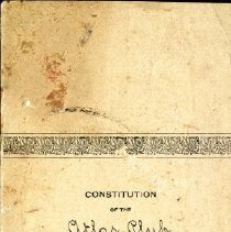 Image of 2012.95 - Constitution of the Atlas Club, Axis Chapter