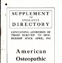 Image of 2012.95 - Supplement to 1914-1915 Directory