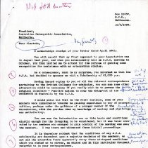 Image of 2012.95 - Letter to Alastair from P. Barrows