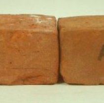 Image of 2007.58 - Two Bricks from American School of Osteopathy Hospital