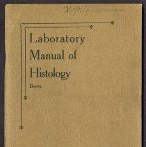 Image of 2013.27 - Laboratory Manual of Histology