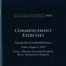 Image of 2013.69 - Arizona School of Health Sciences Commencement Program