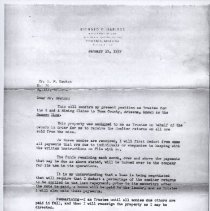 Image of 2013.37 - Correspondence from Richard F. Harless to S.M. Newton