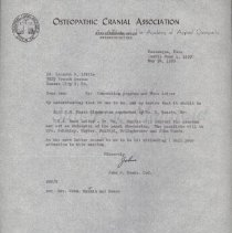 Image of 2013.37 - Correspondence from John M. Woods to Kenneth E. Little