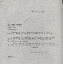 Image of 2013.37 - Correspondence from William C. Rankin to H. George Grainger