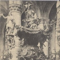 Image of 2013.21 - Chair of the Church of St. Gudula Postcard