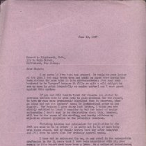 Image of 2013.37 - Correspondence from William F. Hewitt to Howard A. Lippincott