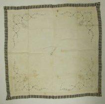 Image of 1974.19 - Mary Elvira Turner Still's Mourning Handkerchief
