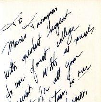 Image of Hand written author's note