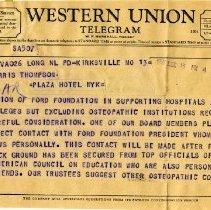 2013 84 - Henry Ford Foundation Grant Telegrams