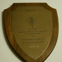 Image of 2014.08 - Outstanding Leadership in Injection Treatment Plaque