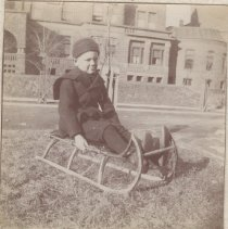 Image of 2013.21 - Roy Campbell on Sled