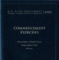 Image of 2014.11 - Arizona School of Health Management Commencement Program