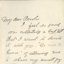 Image of 2013.21 - Letter to Pearlie from Possibly Alice Patterson