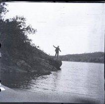 Image of 2013.21 - Man At Lake at Eagles Mere Park