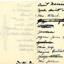 Image Of Handwritten List Names