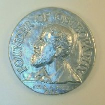 Image of 1982.752 - Silver Medallion with A. T. Still