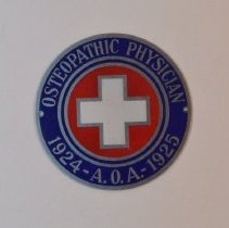 Image of 1979.279 - A.O.A. Osteopathic Physician Emblem