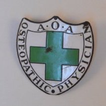 Image of 1979.279 - A.O.A Osteopathic Physician Shield Emblem