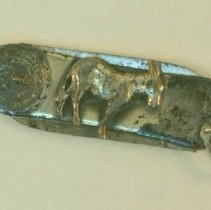 Image of 1984.963 - Pocket Knife with Missouri Mule and Seal Commemorating A.T. Still