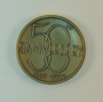 Image of 1986.01 - Bronze 50th Anniversary Medallion