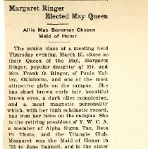 Image of 2014.21 - Margaret Ringer Elected May Queen