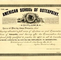 2014 21 - American School of Osteopathy Diploma