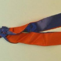 Image of 1987.57 - Door Key with Red and Blue Ribbon