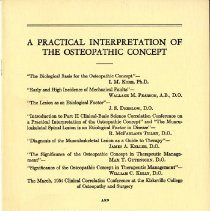 Image of 1988.98 - A Practical Interpretation of the Osteopathic Concept